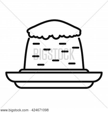 Greece Food Cake Icon. Outline Greece Food Cake Vector Icon For Web Design Isolated On White Backgro