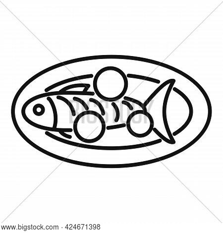 Greece Food Sea Fish Icon. Outline Greece Food Sea Fish Vector Icon For Web Design Isolated On White