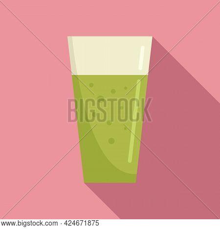 Kiwi Fresh Juice Icon. Flat Illustration Of Kiwi Fresh Juice Vector Icon For Web Design
