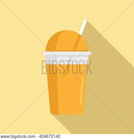 Multifruit Fresh Juice Icon. Flat Illustration Of Multifruit Fresh Juice Vector Icon For Web Design