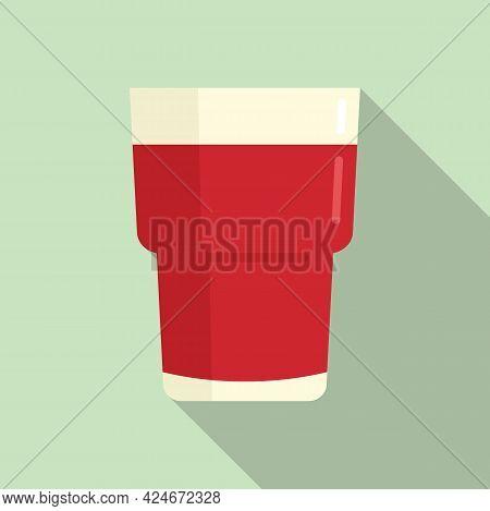 Grapes Fresh Juice Icon. Flat Illustration Of Grapes Fresh Juice Vector Icon For Web Design