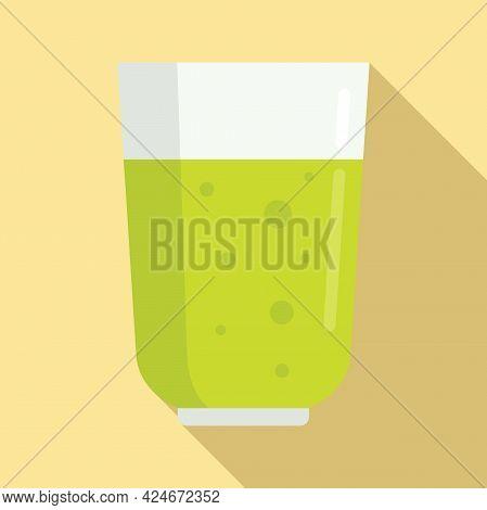 Green Fresh Juice Icon. Flat Illustration Of Green Fresh Juice Vector Icon For Web Design