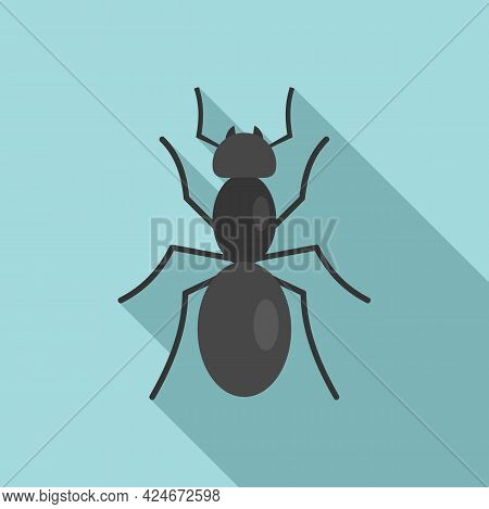 Animal Ant Icon. Flat Illustration Of Animal Ant Vector Icon For Web Design