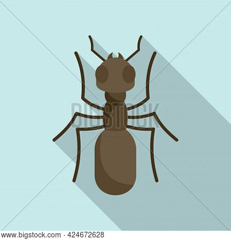 Insect Ant Icon. Flat Illustration Of Insect Ant Vector Icon For Web Design