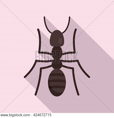 Soldier Ant Icon. Flat Illustration Of Soldier Ant Vector Icon For Web Design