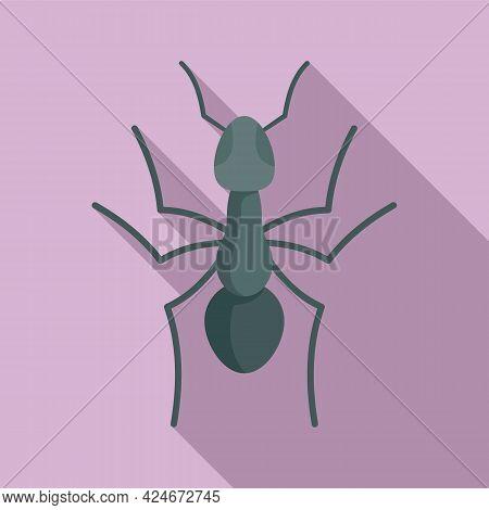Teamwork Ant Icon. Flat Illustration Of Teamwork Ant Vector Icon For Web Design