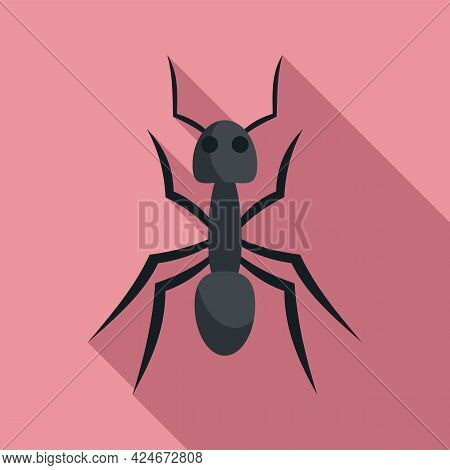 Fauna Ant Icon. Flat Illustration Of Fauna Ant Vector Icon For Web Design