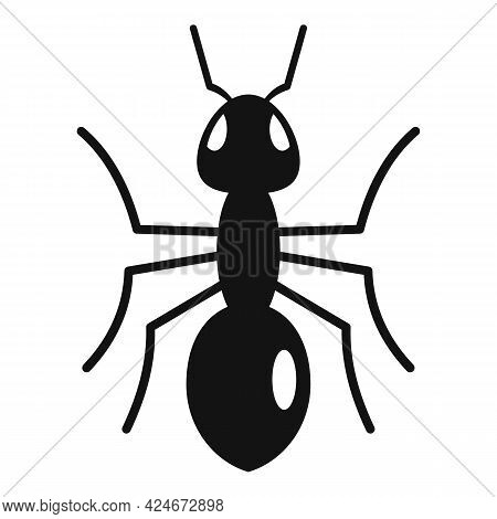 Grass Ant Icon. Simple Illustration Of Grass Ant Vector Icon For Web Design Isolated On White Backgr