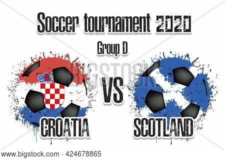 Soccer Game Croatia Vs Scotland