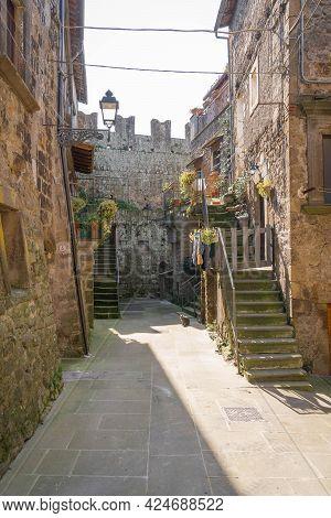Cityscape At City Of Vitorchiano In Lazio, Italy