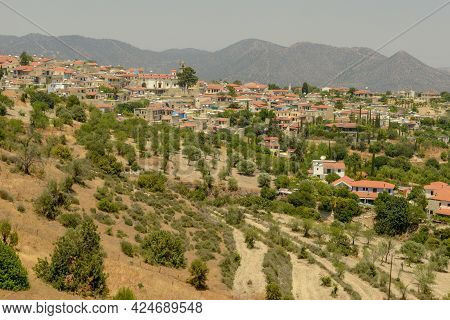 The Mountain Village Of Lefkara In Cyprus