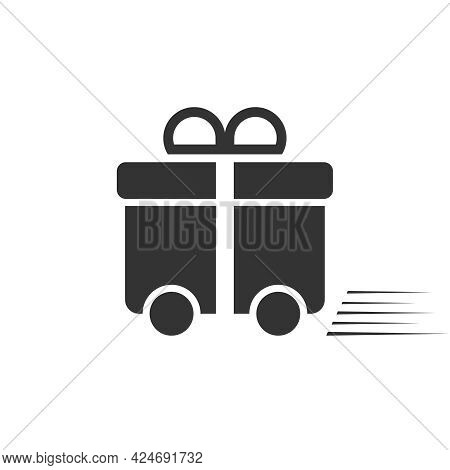 Gift Delivery Sign. Gift Delivery Icon Isolated On White Background. Vector Illustration. Vector.