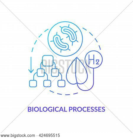 Biological Processes For Hydrogen Concept Icon. Releasing H2 From Microorganisms Abstract Idea Thin