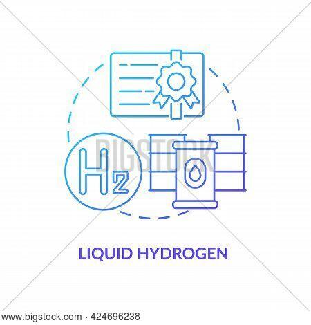 Liquid Hydrogen Concept Icon. Hydrogen Storage Abstract Idea Thin Line Illustration. Minimizing Evap