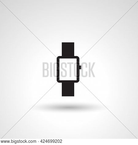 Wristwatch Sign. Wristwatch Isolated Simple Vector Icon
