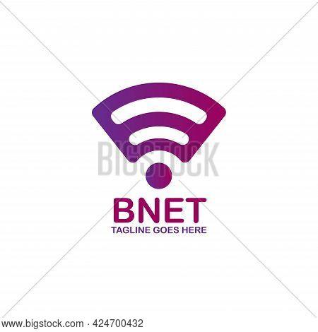 Internet Wireless Design Logo Vector. Internet Wireless Technology