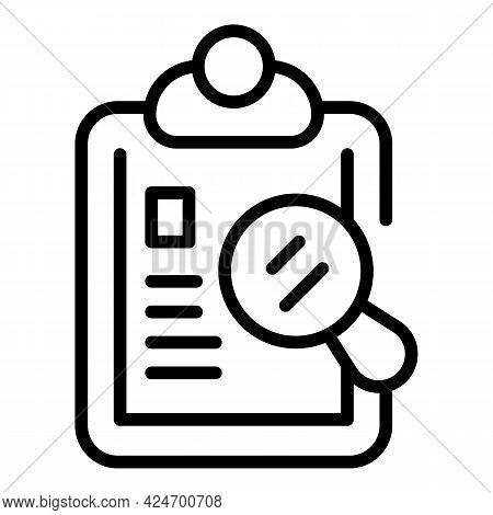 Regulated Products Clipboard Icon. Outline Regulated Products Clipboard Vector Icon For Web Design I