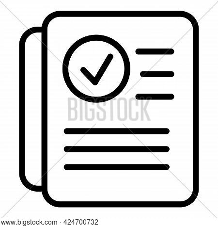 Regulated Products Certified Icon. Outline Regulated Products Certified Vector Icon For Web Design I