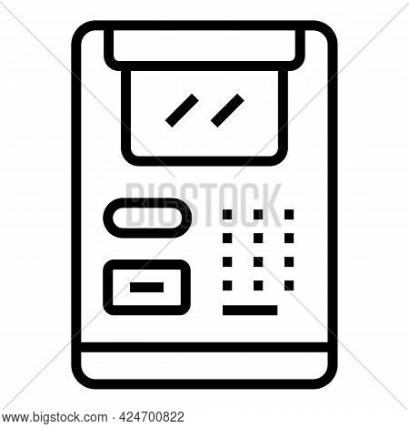 Subway Ticket Monitor Icon. Outline Subway Ticket Monitor Vector Icon For Web Design Isolated On Whi