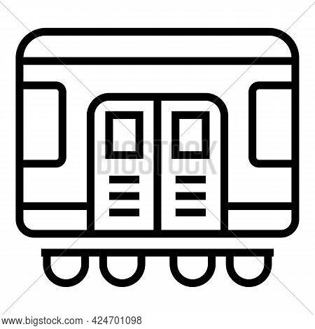 Subway Metro Icon. Outline Subway Metro Vector Icon For Web Design Isolated On White Background