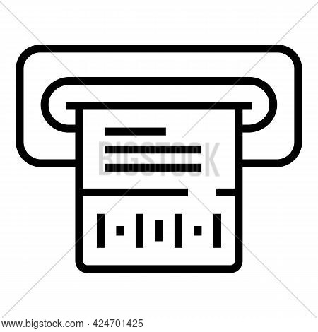Subway Ticket Icon. Outline Subway Ticket Vector Icon For Web Design Isolated On White Background
