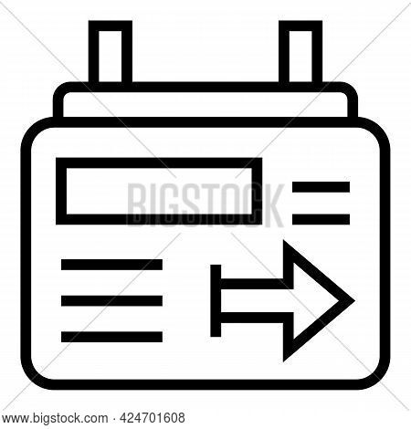Metro Board Icon. Outline Metro Board Vector Icon For Web Design Isolated On White Background