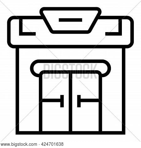 Metro Exit Icon. Outline Metro Exit Vector Icon For Web Design Isolated On White Background