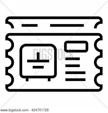 Metro Carton Ticket Icon. Outline Metro Carton Ticket Vector Icon For Web Design Isolated On White B