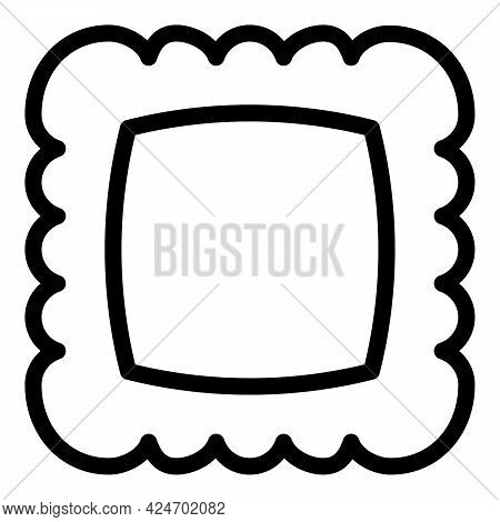 Ravioli Dinner Icon. Outline Ravioli Dinner Vector Icon For Web Design Isolated On White Background