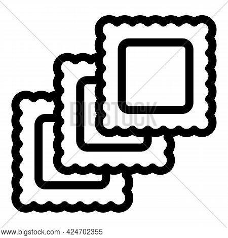 Ravioli Wheat Icon. Outline Ravioli Wheat Vector Icon For Web Design Isolated On White Background