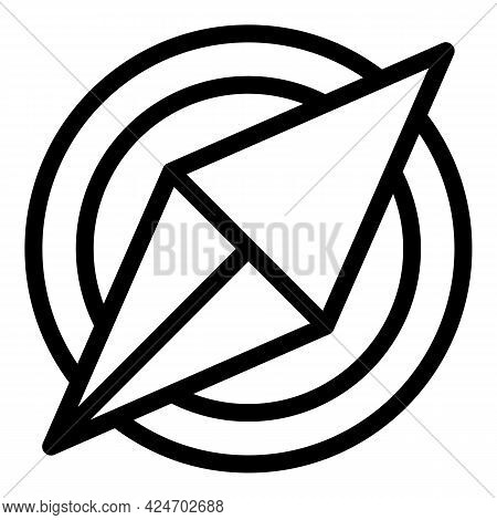 Expedition Compass Icon. Outline Expedition Compass Vector Icon For Web Design Isolated On White Bac