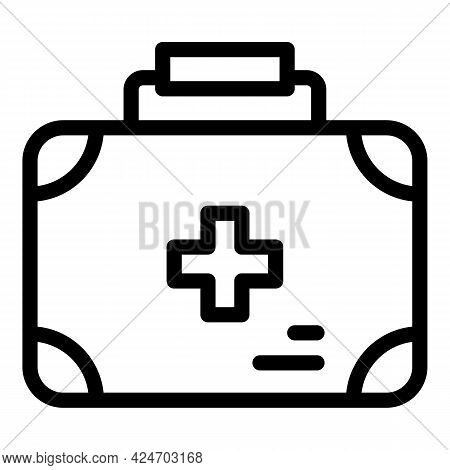 Expedition First Aid Kit Icon. Outline Expedition First Aid Kit Vector Icon For Web Design Isolated