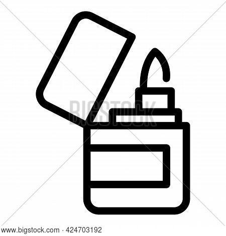 Expedition Lighter Icon. Outline Expedition Lighter Vector Icon For Web Design Isolated On White Bac