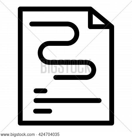 Runner Paper Route Icon. Outline Runner Paper Route Vector Icon For Web Design Isolated On White Bac