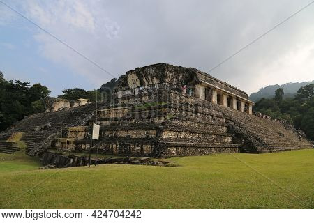 The Mayan City Of Palenque, Mexico. High Quality Photo