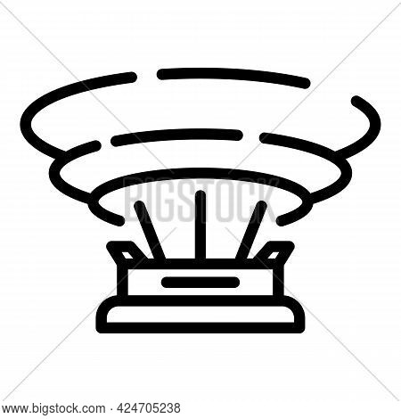 Program Hologram Projection Icon. Outline Program Hologram Projection Vector Icon For Web Design Iso