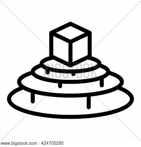 Video Hologram Projection Icon. Outline Video Hologram Projection Vector Icon For Web Design Isolate