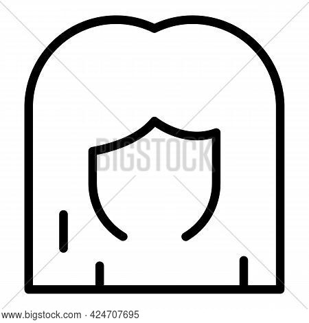 Long Wig Icon. Outline Long Wig Vector Icon For Web Design Isolated On White Background