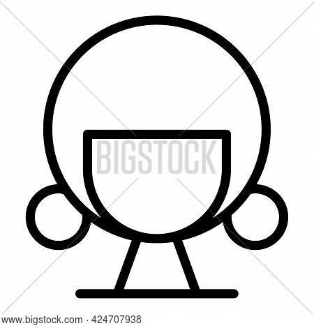 Trendy Wig Icon. Outline Trendy Wig Vector Icon For Web Design Isolated On White Background