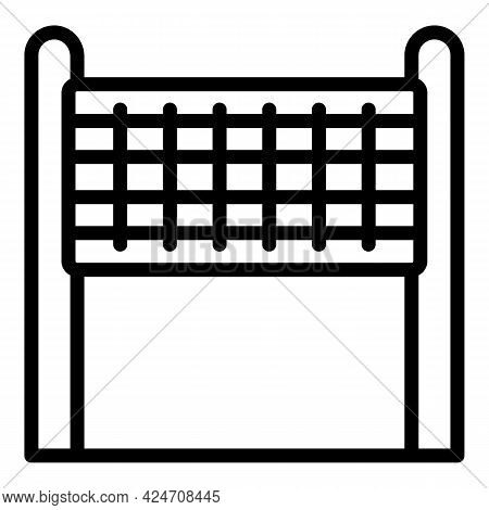 Campsite Volleyball Net Icon. Outline Campsite Volleyball Net Vector Icon For Web Design Isolated On