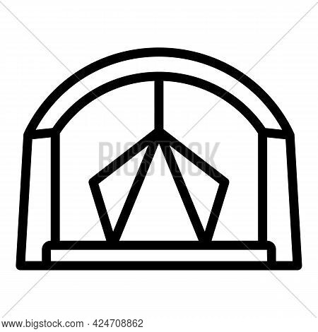 Campsite Tent Icon. Outline Campsite Tent Vector Icon For Web Design Isolated On White Background