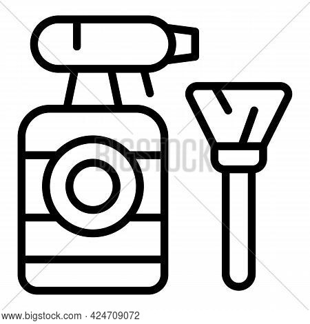 Cleaner Spray Icon. Outline Cleaner Spray Vector Icon For Web Design Isolated On White Background