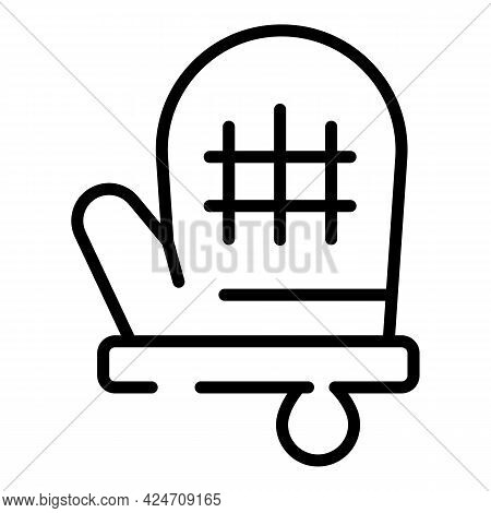 Kitchen Glove Icon. Outline Kitchen Glove Vector Icon For Web Design Isolated On White Background