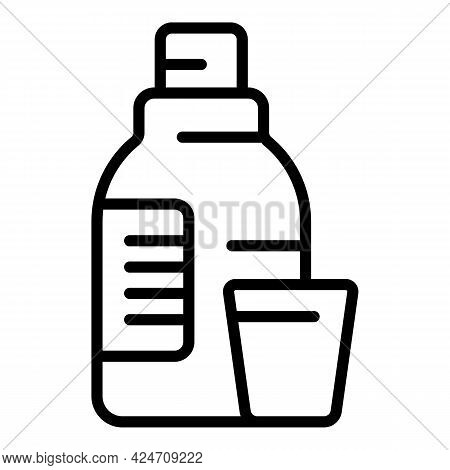 Wash Softener Icon. Outline Wash Softener Vector Icon For Web Design Isolated On White Background
