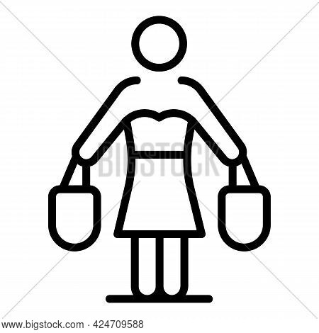 Housewife Icon. Outline Housewife Vector Icon For Web Design Isolated On White Background