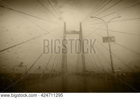Vidyasagar Setu (bridge) Over River Ganges, Known As 2nd Hooghly Bridge In Kolkata,west Bengal, Indi