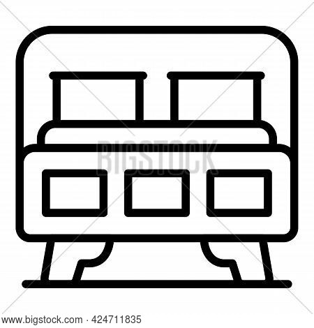 Clean Bedroom Icon. Outline Clean Bedroom Vector Icon For Web Design Isolated On White Background