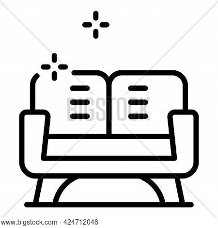 Clean Sofa Icon. Outline Clean Sofa Vector Icon For Web Design Isolated On White Background