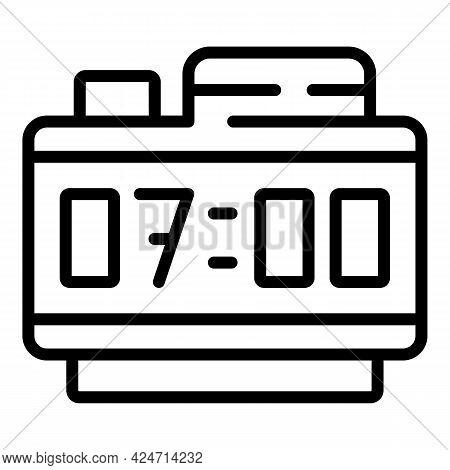 Digital Alarm Clock Icon. Outline Digital Alarm Clock Vector Icon For Web Design Isolated On White B