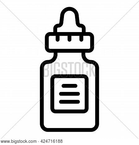 Korean Cosmetics Dropper Icon. Outline Korean Cosmetics Dropper Vector Icon For Web Design Isolated